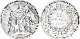 10 FRANCS ARGENT HERCULE 1967 - J. 5 Francs