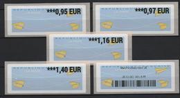 5 ATMs, INTERMEC PC 43. TARIFS 2020, 0.95/ 0.97/ 1.16/ 1.40€, Vignette Douaière Hors U.E. DES RELAIS POSTES URBAINS. - 2010-... Viñetas De Franqueo Illustradas