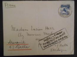 Suisse Lettre De 1940 Ambulant Pour Mareuil/ Belle (serviçe Postal Suspendu ) - Covers & Documents