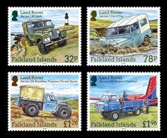 Falkland Islands 2019 Transport Cars Land Rovers Lighthouse 4v MNH - Voitures