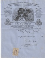 PARIS 13ème : Facture Superbement Illustrée Du Gd Etablissement Des Chasseurs 118 Av. D'Ivry(oeufs à Couver, Grands Ducs - 1800 – 1899