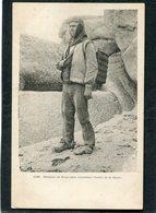 CPA - Karten Bost - Pêcheur De BRIGNOGAN Attendant L'heure De La Marée  (dos Non Divisé) - Brignogan-Plage