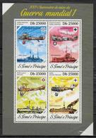 ST THOMAS ET PRINCE  Feuillet  N°  4390/93 * * ( Cote 15e )  Avions Bateaux Guerre - Guerre Mondiale (Première)