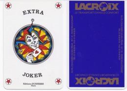 Carte à Jouer édition DUSSERRE Joker « EXTRA » Fond Publicitaire CARS LACROIX Beauchamp Val D'Oise Transport - Cartes à Jouer