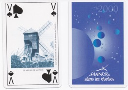 Carte à Jouer Sannois Dans Les étoiles Valet De Pique Illustration Moulin De Sannois - Speelkaarten