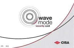 Italy: Cisa Security Card -wave Mode - Hotelkarten