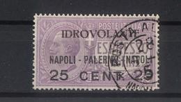 """1716 - Regno - P.A. Espresso Urgente Soprastampato """"Idrovolante Napoli - Palermo - Napoli 25 Cent 25"""" Anno 1917 - Storia Postale (Posta Aerea)"""