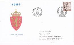 35513. Carta F.D.C. OSLO (Norge) Noruega 1976. Artesania Armas - FDC