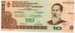 ARGENTINA 10 PESOS -PROVINCIA DEL CHACO  2001 P-S2362  UNC - Argentina