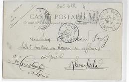 1905 - CP De BISKRA (ALGERIE) Avec RARE BOITE MOBILE => KHENCKELA (CONSTANTINE) Via BATNA - Marcophilie (Lettres)