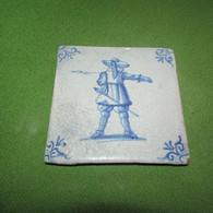 Circa 1630 Delft Tile SOLDIER W/ PIKE - Delft (NLD)