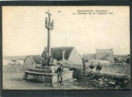 CPA - BRIGNOGAN - Le Calvaire De La Chapelle Pol, Animé - Brignogan-Plage