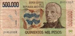 ARGENTINA 500.000 PESOS LEY 1980  P-309 - Argentina