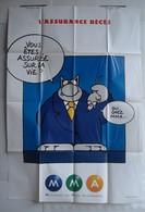 Affiche Publicitaire Abribus - Assurances M M A - L'assurance Décès - Le Chat De Philippe Geluck Avec Une Souris. - Andere