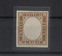 2860 - Stati Sardi 10 C. Bistrò Oliva Senza Effige. Anno 1855 - Sardegna