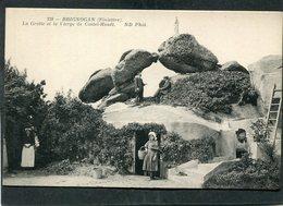 CPA - BRIGNOGAN - La Grotte Et La Vierge De Castel Houët, Animé - Brignogan-Plage