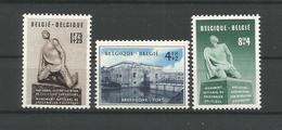 Belgium 1951 Breendonk OCB 860/862 ** - Belgique