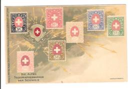 SUISSE - TIMBRES TELEGRAPHES - Die Alten Telegraphenmarken Ders Schweiz - Briefmarken (Abbildungen)
