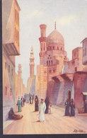 Egypt PPC Cairo Le Caire Artist A. Bishai : Mosque Of Emir Kher Eastern Publishing Company No. 110 (2 Scans) - Kairo