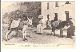 VILLEFORT - Paysannes Se Rendant Au Marché - Villefort