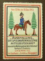 Werbemarke Cinderella Poster Stamp   Spielwaren Chemnitz Gasthaus Linde 1913  #173 - Vignetten (Erinnophilie)