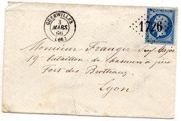 Haut-Rhin - Env Sans Corresp Affr N° 22 Obl GC 1726 - Càd Type 15 Guebwiller - 1849-1876: Période Classique