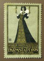 Werbemarke Cinderella Poster Stamp  Kunst Jugendstil Art Nouveau Darmstadt 1908  #185 - Vignetten (Erinnophilie)