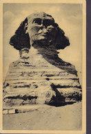 Egypt PPC Cairo Le Caire The Sphinx At Giza No. 404 CAIRO 1947 Sweden (2 Scans) - Kairo