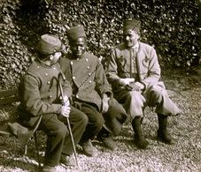 Plaque Photo Militaire 1917 Soldat Noir Africain Hopital Mas Loubier Limoges Guerre 14-18 WWI - Guerre, Militaire