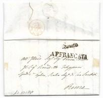 DA PESARO A ROMA - 10.10.1847 - FRANCA. - Italia