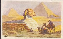 Egypt PPC Cairo Le Caire The Sphinx At Giza No. 40 Lehnert & Landrock ALEXANDRIA 1947 Sweden (2 Scans) - Kairo