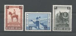 Belgium 1954 King Albert I Monument OCB 938/940 ** - Belgique