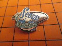 2619 Pin's Pins / Beau Et Rare / THEME ANIMAUX / POISSON PECHE SENSAS HAMECON - Animaux