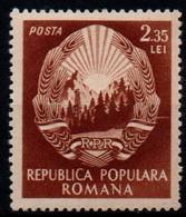 Romania 1952, Scott 958, MNH, Arms - Nuevos