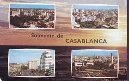 Maroc Morocco PPC Souvenir De Casablanca Photo Robert Direnn VALETTA Malta 1962 Sweden (2 Scans) - Casablanca