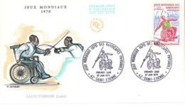FRANCE JEUX MONDIAUX 1970 HANDICAPES FDC   (GENN200953) - Handicap