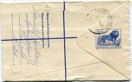 AFRIQUE DU SUD ENTIER POSTAL RECOMMANDE AVEC COMPLEMENT D'AFFRANCHISSEMENT DEPART NEWCASTLE ? ? 60 POUR................ - Storia Postale