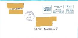 Cachet Manuel La Poste 23651A EMA HU 420054 Aude - Postmark Collection (Covers)