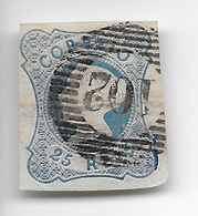 TIMBRES - STAMPS - MARCOPHILIE - PORTUGAL - 1853 - Dª. MARIA II -  NÃO DENTEADO - TIMBRE OBLTIÉRÉ MARQUE POSTALE Nº. 102 - 1853 : D.Maria