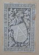 Ex-libris Héraldique XIXème - HENRY DE BROISE - Ex-libris