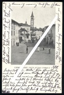 CERANO - NOVARA - 1907 - PIAZZA VITTORIO EMANUELE - BELLA ANIMAZIONE! - Novara