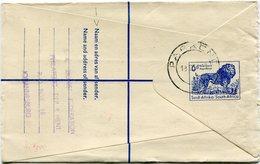 AFRIQUE DU SUD ENTIER POSTAL RECOMMANDE DEPART PARKEND 13 III 60 + AFFRANCHISSEMENT COMPL. JOHANNESBURG 18 III 60 - Storia Postale