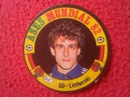 ANTIGUO CROMO OLD COLLECTIBLE CARD AÑOS DÉCADA 1980 ESPAÑA 82 ASES DEL MUNDIAL 1982 PIERRE LITTBARSKI GERMANY FOOTBALL.. - Cromos