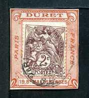 Type BLANC N° 108 Sur Porte Timbre DURET N° 1138 Yvert (livret De L'expert 2010) - 1900-29 Blanc