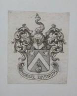 "Ex-libris Héraldique XVIIIème Avec Devise ""PRODESSE DIVINUM"" - Ex-libris"
