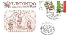 ITALIA - 1991 ROMA 142° REPUBBLICA ROMANA (G.MAZZINI, C.ARMELLINI, A.SAFFI) Su Busta Spec. Rivista L'INCONTRO - 1674 - Altri