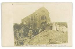 CARTE-PHOTO 02 SOISSONS LA DISTILLERIE APRES LE BOMBARDEMENT - Soissons