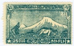 ARMENIA, MONTE ARARAT, 1921, 25000 R., FRANCOBOLLO NUOVO (MLH*)  Mi:AM IIrA, Yt:AM 117, Scott 293 - Armenia