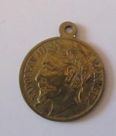 France - Médaille En Métal Doré Napoléon III Empereur - Diam. 19 Mm - 2 Faces Identiques - Achat Immédiat - Professionnels / De Société
