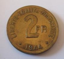 """France - Monnaie 2 Francs """"FRANCE"""" 1944 - Philadelphie - Achat Immédiat - I. 2 Francs"""